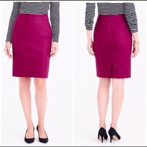 J Crew pink magenta cotton pencil skirt